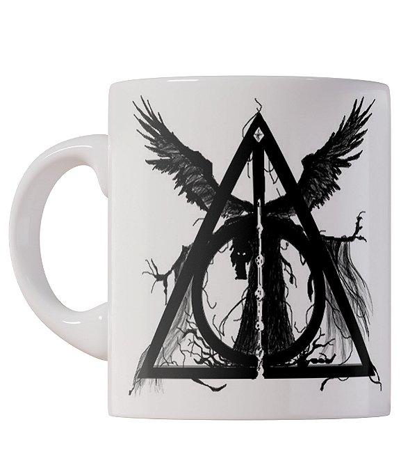 Caneca Relíquias da Morte Harry Potter