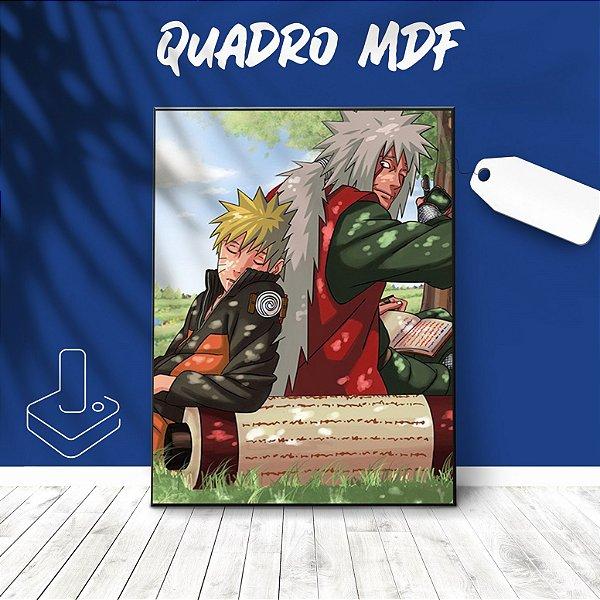 Quadro mdf Naruto e Jiraya