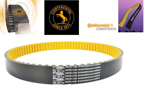 Correia Continental Polychain Carbon 14MGT-1890/25 135T -MT-03/XL1000V Varadero/NC700/NC750X/XT660Z/750/TDM900/CB 500X R/X/F/ Bandit650