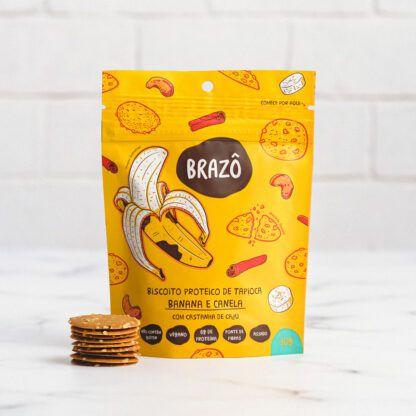 SNACK Proteico 30g Sabor Banana e Canela