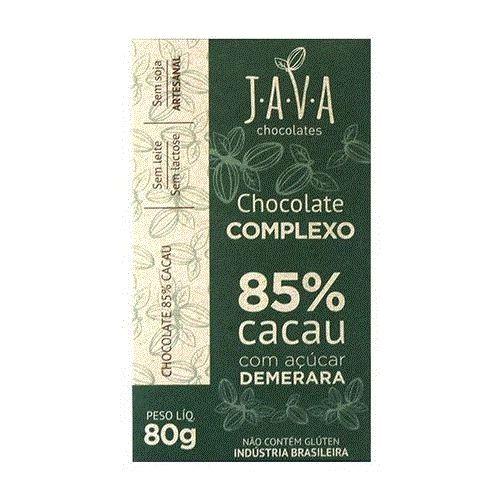 Kit Chocolate Java Vegano 85% cacau Complexo - 3 tabletes de 25g cada