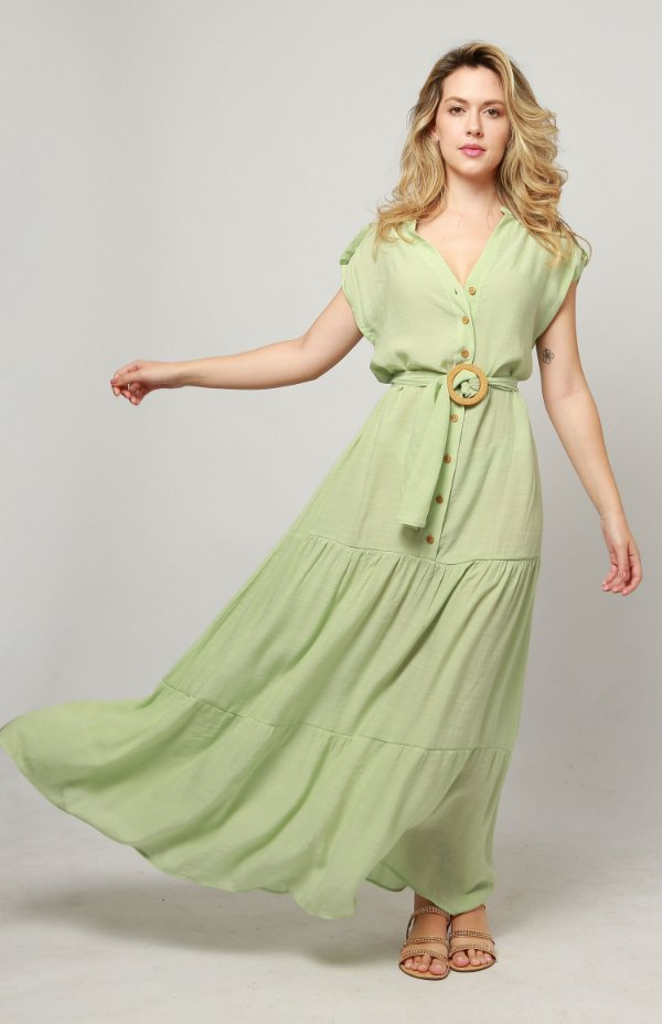 Vestido Longo Crep Cimart
