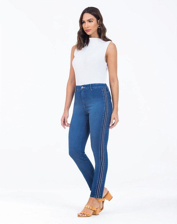 Calça Jeans Skinny detalhe lateral Scalon