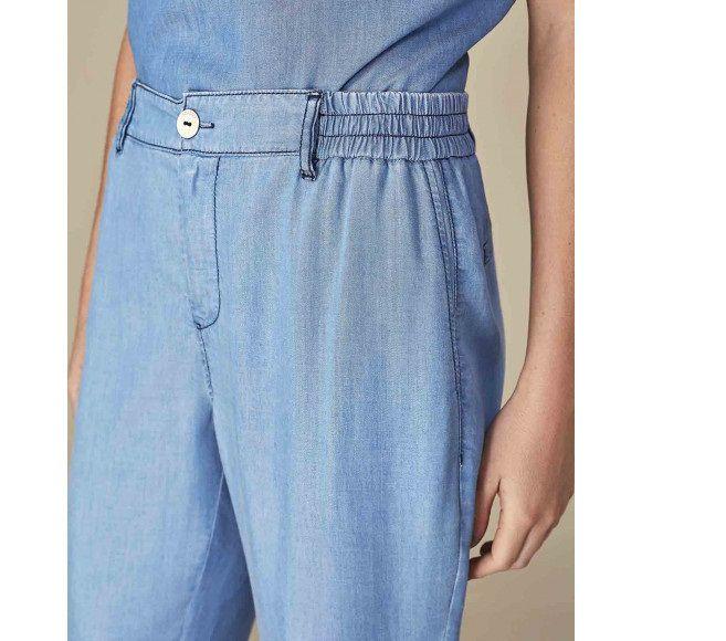 calça pijama de liocel com cós de elástico