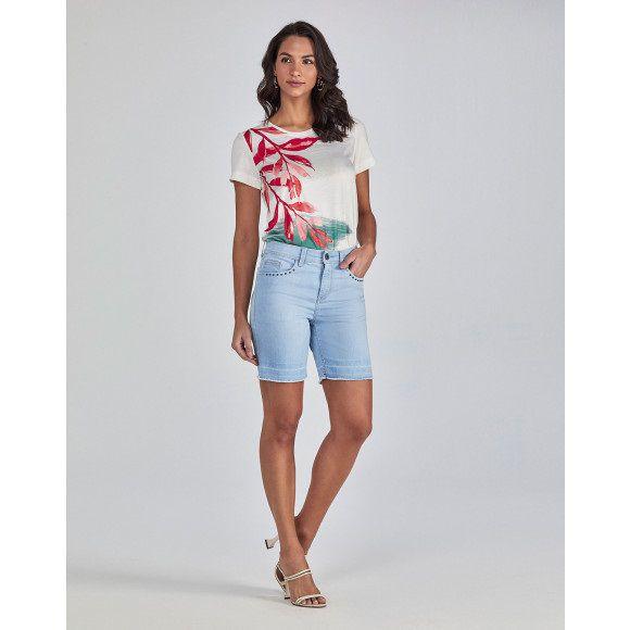 T-shirt Scalon Malha Estampada