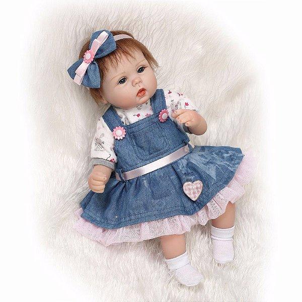 Linda Bebê Reborn de 43cm - Frete Grátis