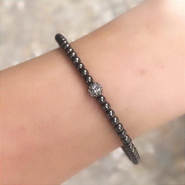 Bracelete Bolinhas negras