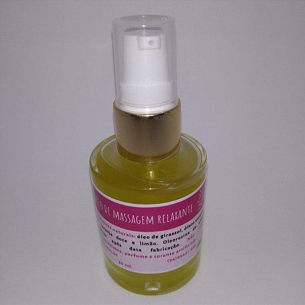Óleo de massagem relaxante 100% vegetal 30 ml