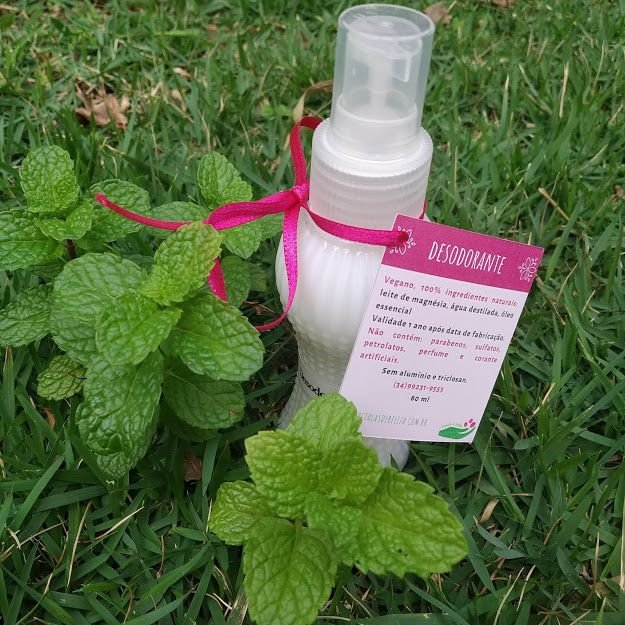 Desodorante natural sem cheiro e sem alumínio 80ml