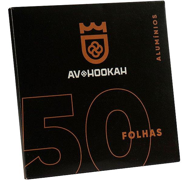 PAPEL ALUMINIO 50 FOLHAS  - AV HOOKAH