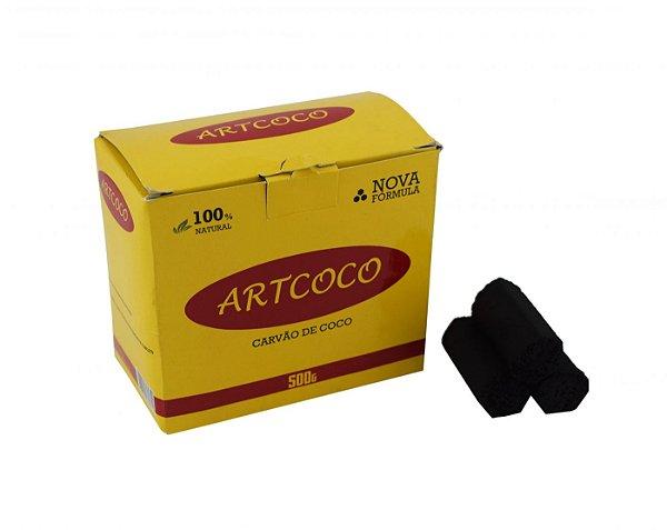 CARVÃO DE NARGUILE HEXAGONAL 500G - ART COCO