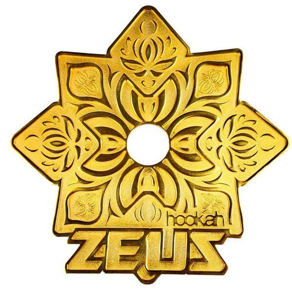 PRATO GRANDE ZEUS ELEMENTAL DOURADO - HOOKAH ZEUS