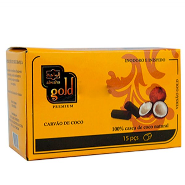 CARVÃO DE NARGUILE 250G - ALWAHA GOLD