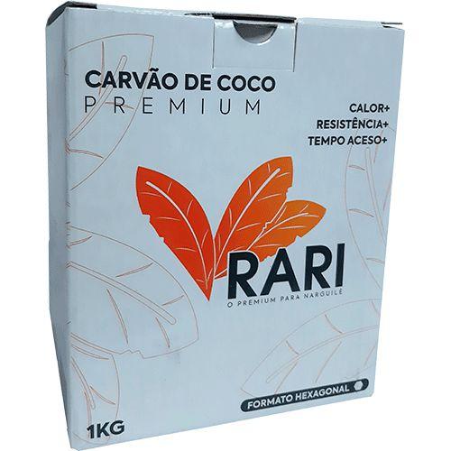 CARVÃO DE NARGUILE HEXAGONAL 1KG - RARI COCO