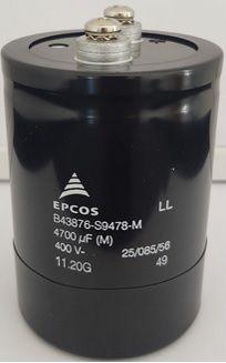 Capacitor Giga-Elco 4.700uF 400V SCREW TERMINAL 75x105mm