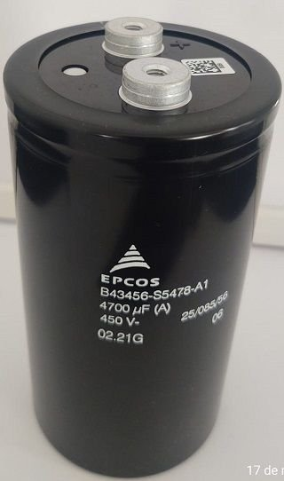 Capacitor Giga-Elco 4.700uF 450V SCREW TERMINAL 76x143
