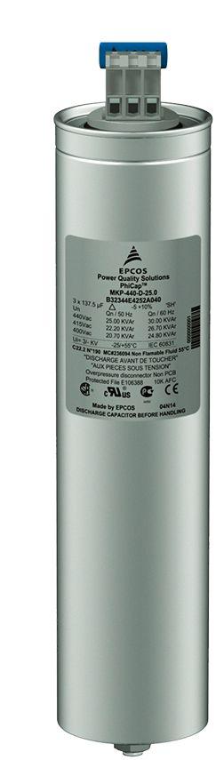 Capacitor Trifásico 7,5KVAR x 220V X 60HZ MKP220-D6.3