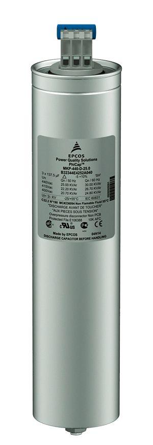 Capacitor Trifásico 7,5 KVAR X 525V X 60HZ MKP525-D6.3