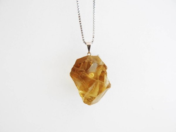 Colar Difusor Pessoal de Pedra Bruta - Green Gold