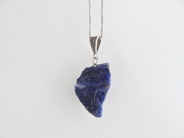 Colar Difusor Pessoal de Pedra Natural Bruta - Sodalita