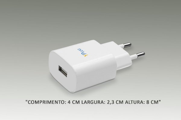 Carregador Tomada USB c/ 1 Saida (sem cabo)