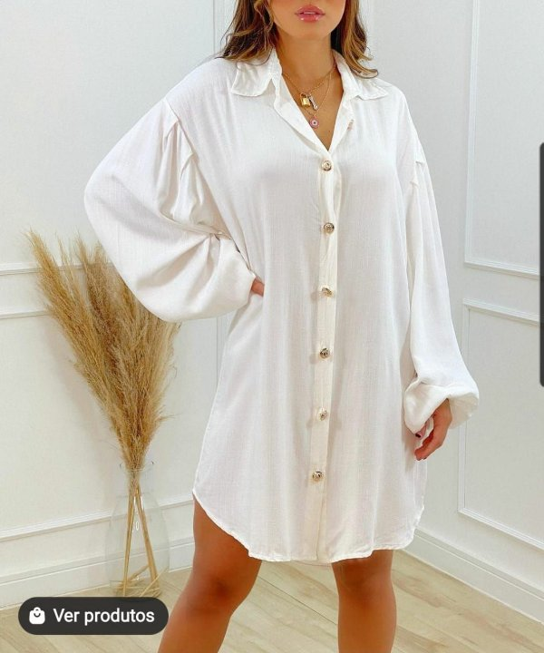 Chemise Vestido Juliette Branco
