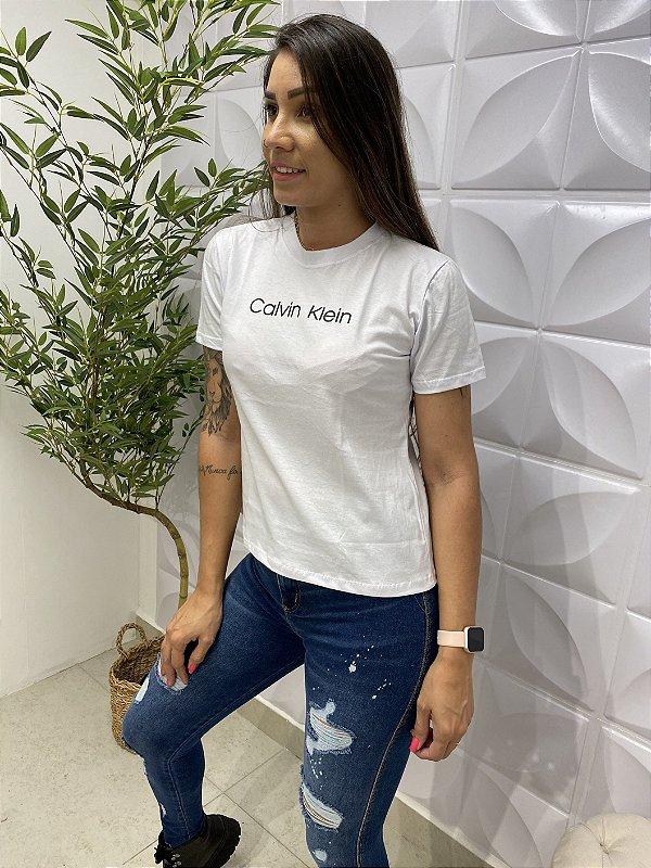 T-shirt CK Branca