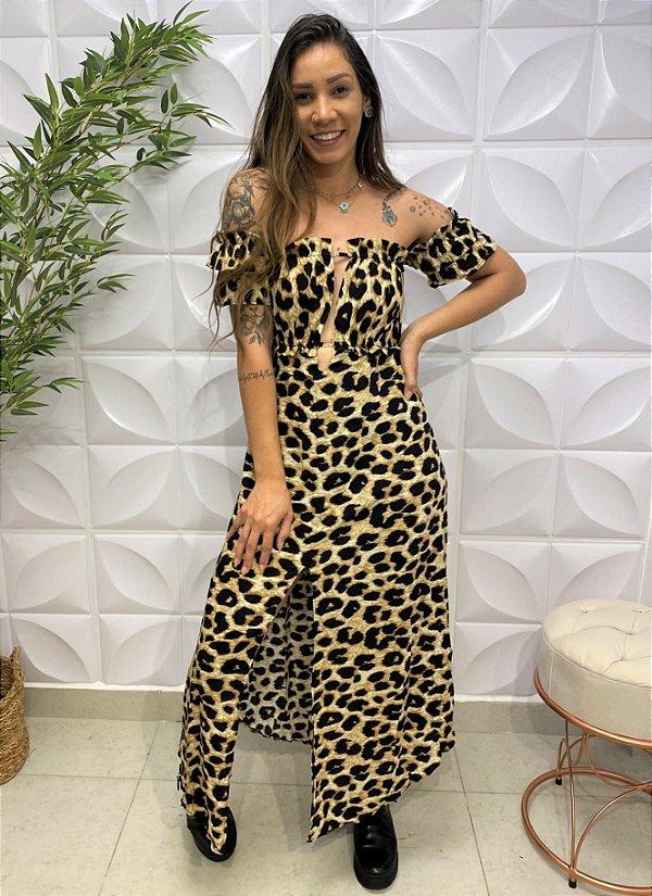 Vestido Viscose Carla Onça