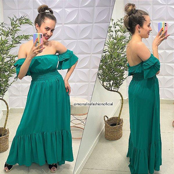 Vestido Viscose Monalisa Verde