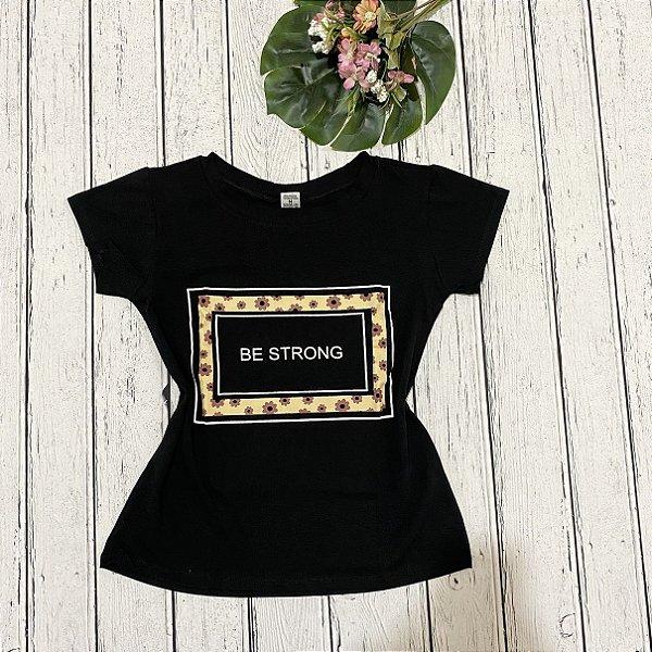 T-shirt Preta Seja Forte