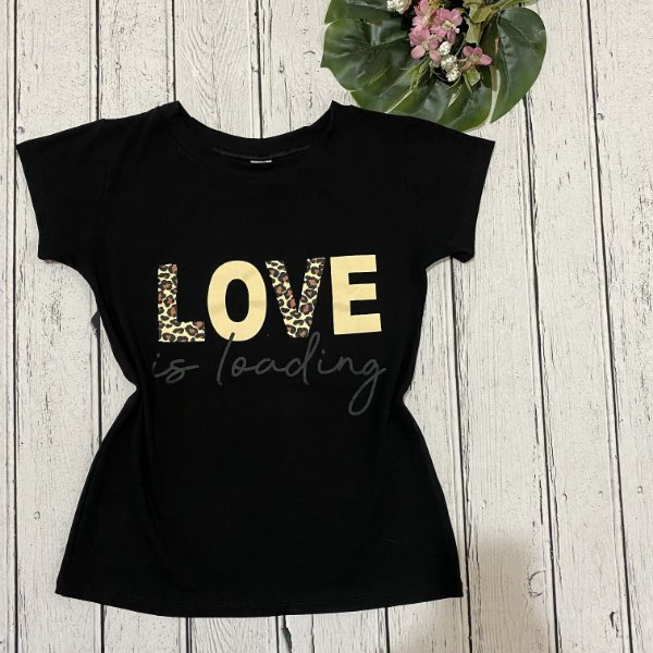 T-shirt Preta Love