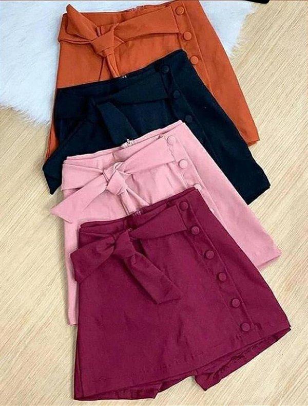 Shorts Saia Bengaline com Botões