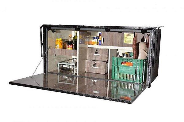 Cozinha para Caminhão 130 x 60 x 64cm (Caixa Acab. em Fórmica)