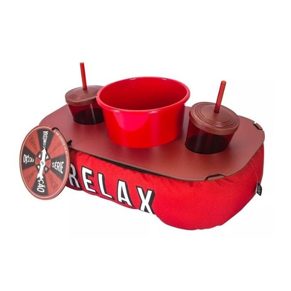 Almofada Porta Pipoca Netflix Relax + Brinde Roleta O Que Assistir