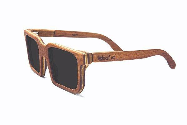 Óculos de Sol de Madeira Leaf Eco Andy Muiracatiara