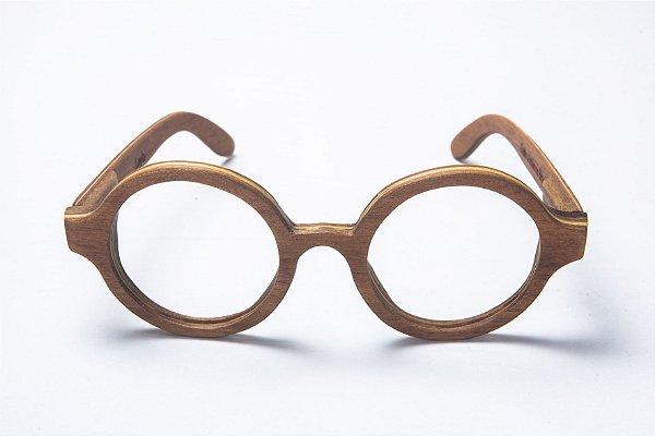 Armação de Óculos de Grau de Madeira Leaf Eco Layla