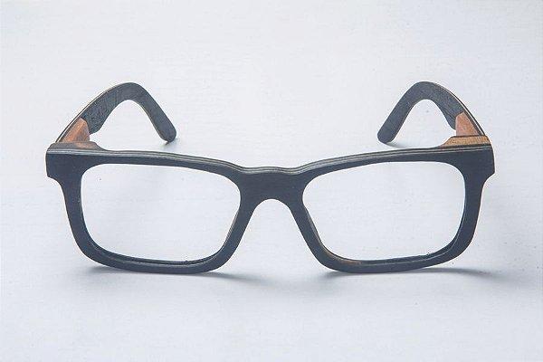 Armação de Óculos de Grau de Madeira Leaf Eco Miles