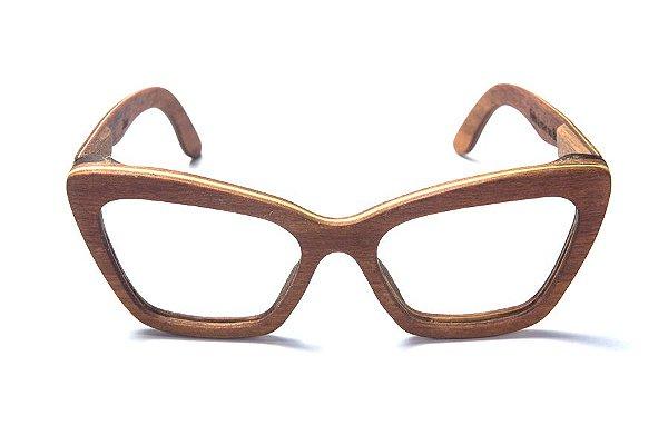 Armação de Óculos de Grau de Madeira Leaf Eco Joan