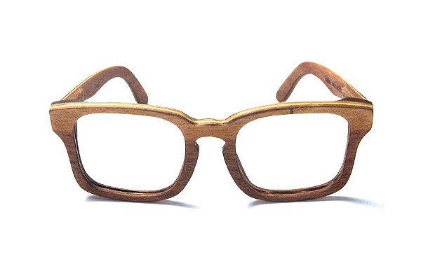 Armação de Óculos de Grau de Madeira Leaf Eco Louis
