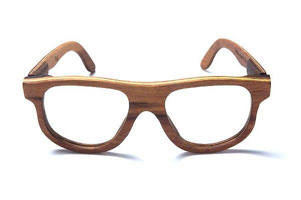 Armação de Óculos de Grau de Madeira Leaf Eco Pug