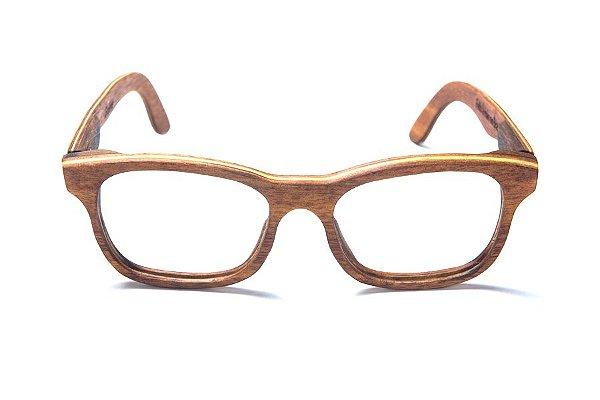 Armação de Óculos de Grau de Madeira Leaf Eco Roy