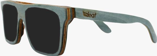 Óculos de Sol de Madeira Leaf Eco Beagle Azul Claro