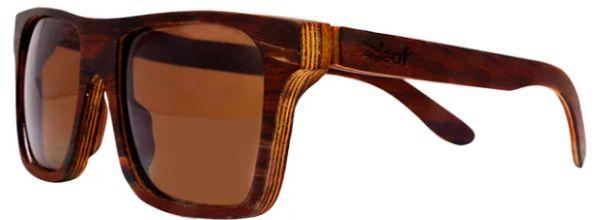 Óculos de Sol de Madeira Leaf Eco Beagle Jacarandá