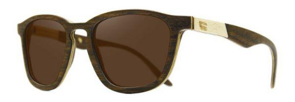 Óculos de Sol de Madeira Leaf Eco Charles Imbuia Detalhe