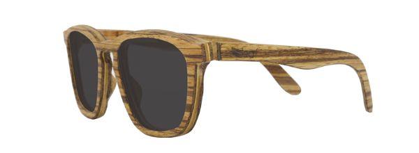 Óculos de Sol de Madeira Leaf Eco Charles Zebrano