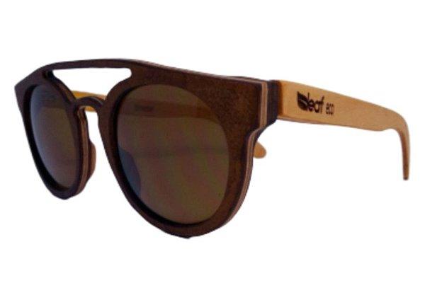 Óculos de Sol de Madeira Leaf Eco Eleanor Imbuia Maple