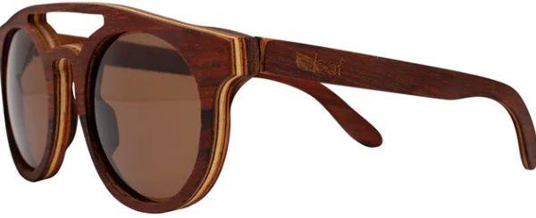Óculos de Sol de Madeira Leaf Eco Eleanor Jacarandá