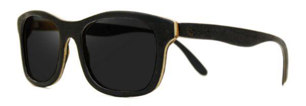 Óculos de Sol de Madeira Leaf Eco Groove Preto