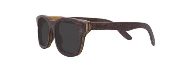 Óculos de Sol de Madeira Leaf Eco Groove Roxinho