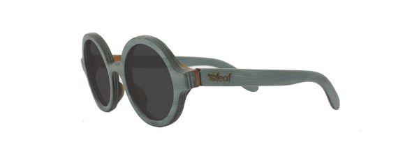 Óculos de Sol de Madeira Leaf Eco Layla Azul Claro